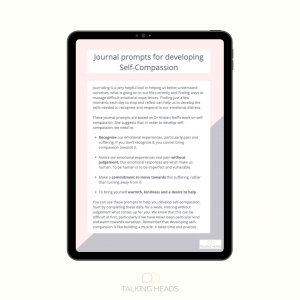 Developing Self-Compassion journal prompts